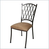 Pastel Furniture Atrium Topanga Brown Side Chair in Autumn Rust