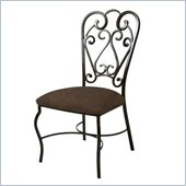 Pastel Furniture Magnolia Coffee Side Chair in Autumn Rust
