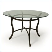 Pastel Furniture Island Falls Glass Top Dining Table in Autumn Rust