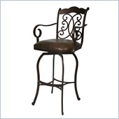 Pastel Furniture Athena 26 Barstool With Arms in Autumn Rust