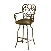 Pastel Furniture Magnolia 30 Barstool with Arms in Autumn Rust