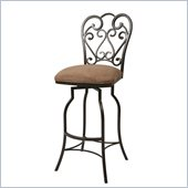 Pastel Furniture Magnolia 30 Armless Barstool in Autumn Rust