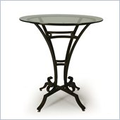 Pastel Furniture Athena 36 Round Glass Pub Table in Autumn Rust