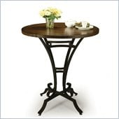 Pastel Furniture Athena 36 Round Wood Pub Table in Autumn Rust