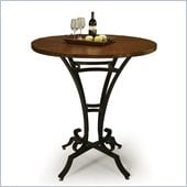 Pastel Furniture Athena 36 Hammered Metal Pub Table in Autumn Rust