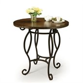 Pastel Furniture Atrium 36 Round Wood  Pub Table in Autumn Rust