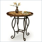 Pastel Furniture Atrium 36 Round Travertine Pub Table in Autumn Rust