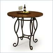 Pastel Furniture Atrium 36 Hammered Metal Pub Table in Autumn Rust 