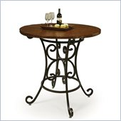 Pastel Furniture Magnolia 40 Hammered Metal Pub Table in Autumn Rust