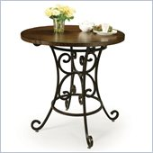 Pastel Furniture Magnolia 40 Round Wood Pub Table in Autumn Rust