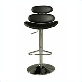 Pastel Furniture Avebury 30 Bar Stool In Chrome Upholstered In Black