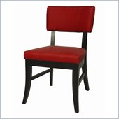Pastel Furniture Eritrea Side Chair in Bonded Red Leather