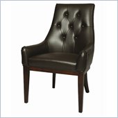 Pastel Furniture Firzouzeh Side Chair in Bonded Brown Leather