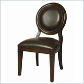 Pastel Furniture Naples Bay Side Chair in Leather Ridge