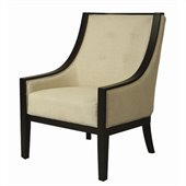 Pastel Furniture Eurowayne Club Chair in Linen Khaki Fabric