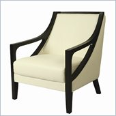 Pastel Furniture Fouquet Club Chair in Top Grain White Leather