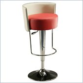 Pastel Furniture Anaquest Hydraulic Bar Stool in Red