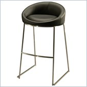 Pastel Furniture Di Sinistra 26 Counter Bar Stool in Black