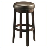Pastel Furniture Ekatarina 30 Backless Bar Stool in Brown Leather