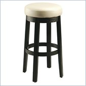 Pastel Furniture Ekatarina 30 Backless Bar Stool in White Leather