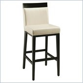 Pastel Furniture Elloise 30 Bar Stool in White Leather