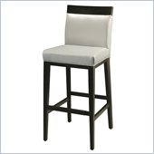 Pastel Furniture Elloise 26 Counter Bar Stool in Light Gray Leather