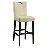 Pastel Furniture Epiphany 26 Counter Bar Stool in White Leather