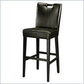 Pastel Furniture Epiphany 26 Counter Bar Stool in Black Leather
