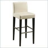 Pastel Furniture Equinoii 26 Counter Bar Stool in White Leather