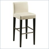 Pastel Furniture Equinoii 30 Bar Stool in White Leather