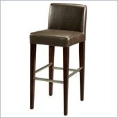 Pastel Furniture Equinoii 26 Counter Bar Stool in Brown Leather