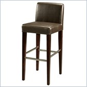 Pastel Furniture Equinoii 30 Bar Stool in Brown Leather