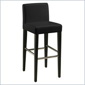 Pastel Furniture Equinoii 26 Counter Bar Stool in Black Leather