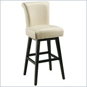 Pastel Furniture Hannah 30 Bar Stool in White Leather