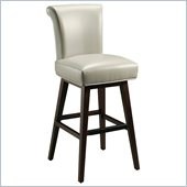 Pastel Furniture Hannah 30 Bar Stool in Light Gray Leather