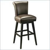 Pastel Furniture Hannah 30 Bar Stool in Brown Leather