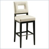 Pastel Furniture Hajime 30 Bar Stool in White Leather