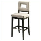 Pastel Furniture Hajime 26 Counter Bar Stool in Light Gray Leather