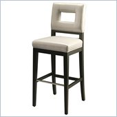 Pastel Furniture Hajime 30 Bar Stool in Light Gray Leather