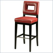 Pastel Furniture Hajime 30 Bar Stool in Red Leather