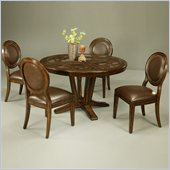 Pastel Furniture Devon Coast 5 Pc Glass Dinette w/ Naples Side Chairs