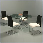 Pastel Furniture Fahrenheit 5 Piece Dinette w/ Ivory Federick Chairs