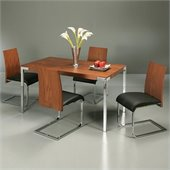 Pastel Furniture Fort James 5 Pc Dinette w/ Federick Chairs in Walnut