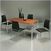 Pastel Furniture Fort James 5 Piece Dinette w/ Black Ferguson Chairs
