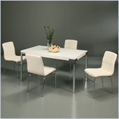Pastel Furniture Fort James 5 Piece Dinette w/ Ivory Fleming Chairs