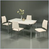 Pastel Furniture Fort James 5 Piece Dinette w/ Ivory Ferguson Chairs