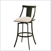 Pastel Furniture Amrita 30 Swivel Barstool in Klein Ivory