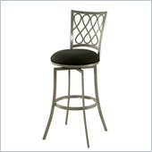 Pastel Furniture Keurig 26 Swivel Counter Stool in Klein Black