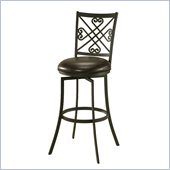 Pastel Furniture Savannah 30 Swivel Barstool in Chocolate