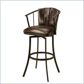 Pastel Furniture Lucien 30 Swivel Barstool in Chocolate